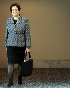 U.S. Solicitor General Elena Kagan, nominee for the U.S. Supreme Court, walks to a meeting May 21 on Capitol Hill.