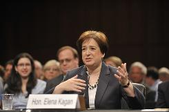 Supreme Court nominee Elena Kagan answers questions from the Senate Judiciary Committee on Capitol Hill on Tuesday.