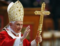"Pope Benedict XVI is creating a new Vatican office to combat secularzation and what he calls an ""eclipse of the sense of God."""
