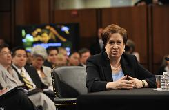 Elena Kagan answers questions from the Senate Judiciary Committee on the third day of confirmation hearings. President Obama nominated Kagan to replace retired Supreme Court Justice John Paul Stevens.