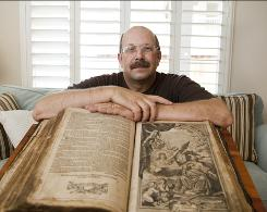 "The Tea Party movement is ""largely just independent groups fed up,"" says Jim Sagray, 63, a retired high school teacher and Tea Party supporter. Sagray shows off the family Bible at his Roseville, Calif., home."