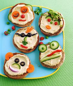 Hummus Heads open-faced sandwiches.