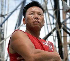 Nhan Vo, captain of a Mississippi boat, has received two small checks from BP.