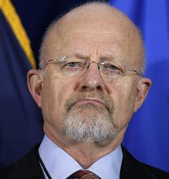 In April, James Clapper listens to remarks by Director of National Intelligence Dennis C. Blair at a ceremony marking the ODNI's fifth birthday at its headquarters in McLean, Va.