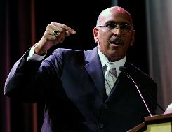 "Republican Party Chairman Michael Steele has accused the NAACP of ""name calling"" against the Tea Party."