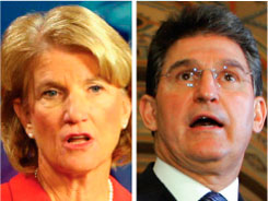 Joe Manchin, right, announced he will seek the seat Sen. Robert Byrd held for more than 50 years. State Republicans, meanwhile, left open the possibility of a challenge by Rep. Shelley Moore Capito.