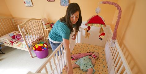 Lindsey Carson, 28, of Atlanta says she has no way to know whether the drop-side cribs she uses for her two daughters have been recalled -- both are secondhand, and neither has a label.