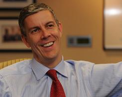 "Education Secretary Arne Duncan says for-profit colleges overall are doing a good job of preparing students, but a few ""bad actors"" are out there."