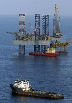 About 8,000 barrels of drilling mud wait on surface ships, but BP officials say only a few hundred barrels should be needed.