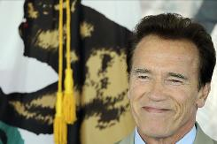 California Gov. Arnold Schwarzenegger, seen here during a meeting of the Bay Area Council in Santa Clara, Calif., on Friday, has urged a federal judge to allow gay couples to resume marrying in the state.