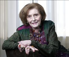 Actress Patricia Neal, seen here in April 2008 in Nashville, died Sunday at age 84. Neal had lung cancer and died at her home in Edgartown, Mass., on Martha's Vineyard.
