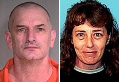 Authorities are searching for John McClusky, left, an escaped convict, and Casslyn Welch, his accomplice, in Western Montana and southwest Canada.