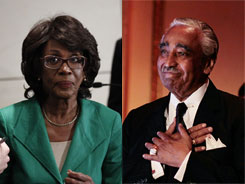 Reps. Maxine Waters and Charles Rangel have denied wrongdoing. 