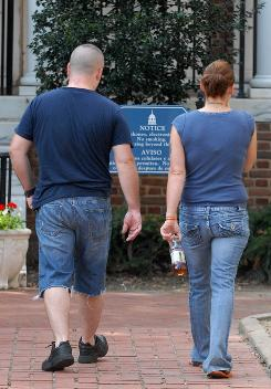 Cut-off shorts are prohibited under the new dress code at the Kent County (Del.) Courthouse.