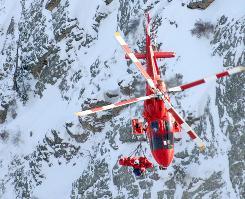 An air ambulance above a Utah mountain in 2006.