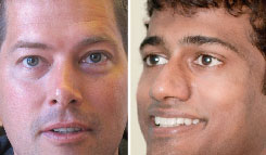 Reality TV stars-turned-candidates Sean Duffy, left, and Surya Yalamanchili.