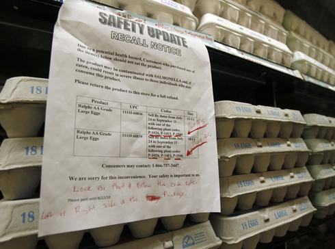 Egg supplier has lengthy violation history before recall