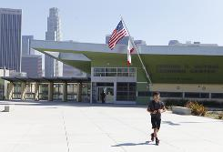 The Edward R. Roybal Learning Center is seen in Los Angeles, on Aug. 10. Next month's opening of the Robert F. Kennedy Community Schools will mark the inauguration of the nation's most expensive public school ever.