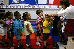Kindergarten enrollment is up, from 3.8 million in 2000 to about 4 million.