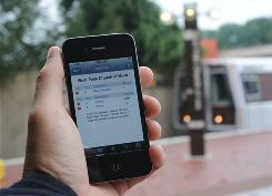 San Francisco, Chicago and Washington (shown) have apps that allow riders to use their Internet-accessible phones to get real-time information showing when their next bus or train is due.