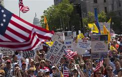 Tea Party protesters gather April 15 in Washington.