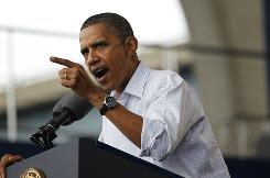 President Obama tells a Milwaukee Laborfest rally his infrastructure plan will create jobs and make the economy hum.