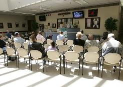 A waiting room at Winn Army Community Hospital in 2007. A former Army soldier took three workers hostage at gunpoint in the facility Monday before authorities persuaded the gunman to surrender peacefully.