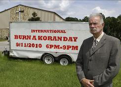 Rev. Terry Jones plans to burn copies of the Quran at Dove World Outreach Center in Gainesville, Fla., on Saturday to mark the ninth annivesary of the Sept. 11 terrorist attacks.