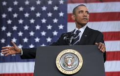 President Obama discusses the economy at the Cuyahoga Community College in Parma, Ohio.