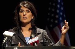 Nikki Haley, who was born Nimrata Randhawa, is the South Carolina Republican Party's nominee for governor.