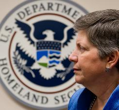 Secretary of Homeland Security Janet Napolitano, whose department is going to begin testing iris scans at a border patrol station in Texas.
