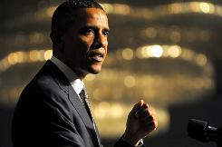 President Obama said the new health care law, which is designed to insure more poor and middle-income Americans, &quot;will build on that success by expanding health insurance coverage to more families.&quot;