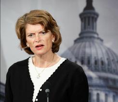 Sen. Lisa Murkowski at a June news conference.