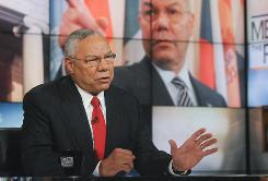 Retired Gen. Colin Powell appears on NBC's Meet the Press on Sunday. In a discussion of immigration policy, the former secretary of state said illegal immigrants work on his house.