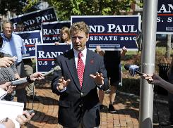 Tea Party favorite Rand Paul, the GOP nominee for Senate in Kentucky, announces at a news conference on Sept. 15 that the U.S. Chamber of Commerce has endorsed him.