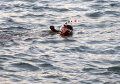 Philipe Croizon, a French quadruple amputee, swims across the English Channel, finishing in only 13 and a half hours.