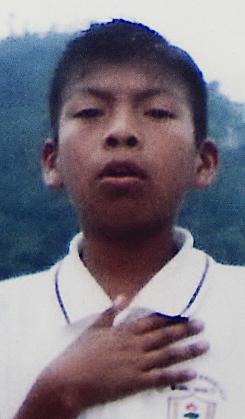 Photo of 13-year-old Nelson Omar Chilel Lopez who has been missing two months.