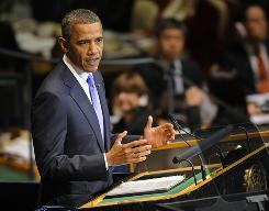"""""""The door remains open to diplomacy should Iran decide to walk through it,"""" said President Obama during his U.N. address Thursday."""