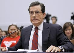 "Stephen Colbert, host of Comedy Central's ""Colbert Report,"" during Friday's testimony."