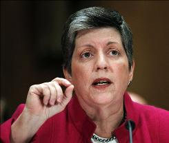 Homeland Security Secretary Janet Napolitano, seen here on Capitol Hill on Sept. 22, said the push aims to counter terrorists who might use international flights for attacks by smuggling explosives through overseas metal detectors.