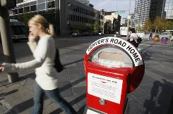 Money collected in a special parking meter in downtown Denver is used to help homeless people.