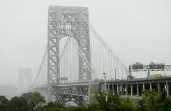 The George Washington Bridge seen from the New York City side of the span. Rutgers University freshman Tyler Clementi, 18, jumped to his death off the bridge Sept. 22.
