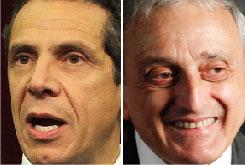 Democrat Andrew Cuomo, left, and Republican Carl Paladino.