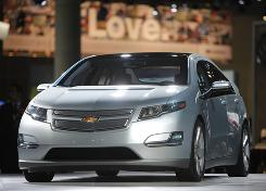 The 2011 Chevrolet Volt debuts at the Los Angeles Auto Show in December 2009.