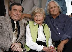 The cast of Leave It To Beaver Jerry Mathers, Barbara Billingsley, and Tony Dow  reunited in Santa Monica, Calif., in September 2007 to celebrate the 50th anniversary of the show. Billingsley died Saturday. She was 94.