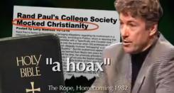 An ad from Democrat Jack Conway questions Republican Rand Paul's religious beliefs.