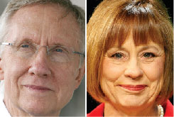 Both Harry Reid and Sharron Angle have served in the Nevada Assembly.