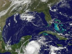 Hurricane Richard formed off the coast of Belize Sunday, on track to bring more lashing rains to a soaked Central America and Yucatan Peninsula.