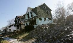 Money will be used to revitalize areas such as this in Detroit.