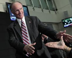 Alabama governor-elect Dr. Robert Bentley waves to supporters in Tuscaloosa, Ala., Tuesday, Nov. 2, 2010.  Bentley defeated Democratic challenger Ron Sparks in the election.